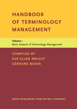 Basic Aspects of Terminology Management