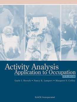 Activity Analysis: Application to Occupation