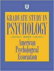 Graduate Study in Psychology: 2002 Edition