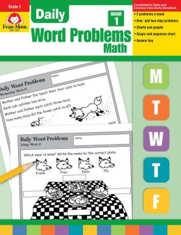Daily Word Problems Math, Grade 1