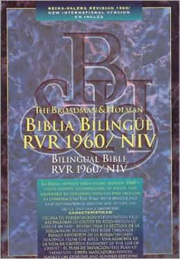Biblia Bilingue RVR 1960/NIV: 1960 Reina-Valera Revision y New International Version (NIV), imitacion piel negra, indice (Bilingual Bible, black imitation leather, thumb-indexed)