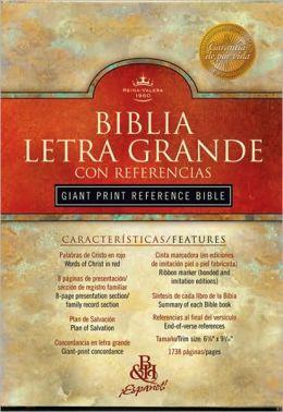 RVR 1960 Biblia Letra Grande con Referencias, negro tapa dura