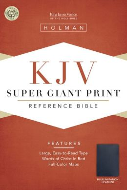 KJV Super Giant Print Reference Bible, Blue Simulated Leather