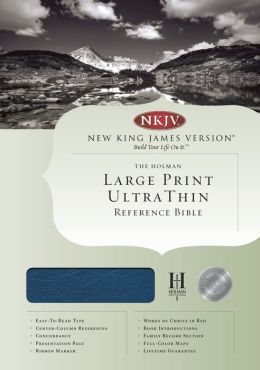 NKJV Large Print Ultrathin Reference Bible, Blue Bonded Leather Indexed