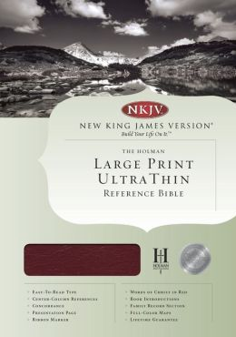 NKJV Large Print Ultrathin Reference Bible, Burgundy Bonded Leather Indexed