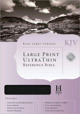 KJV Large Print Ultrathin Reference Bible, Burgundy Bonded Leather