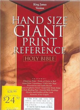 KJV Giant Print Reference Bible, Burgundy Genuine Leather