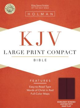 KJV Large Print Compact Bible, Burgundy Bonded Leather with Magnetic Flap