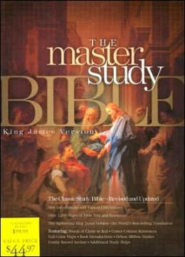 KJV Master Study Bible, Burgundy Genuine Leather