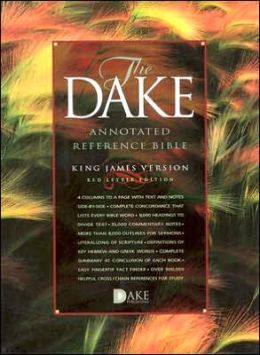 The Dake Annotated Reference Bible, Standard Edition: King James Version (KJV), burgundy genuine leather, words of Christ in red, with concordance