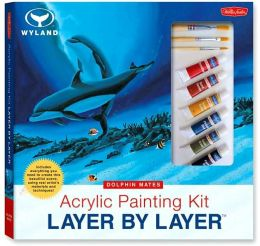 Acrylic Painting Kit Layer by Layer: Dolphin Mates: This unique method of instruction isolates each layer of the painting, ensuring successful results.