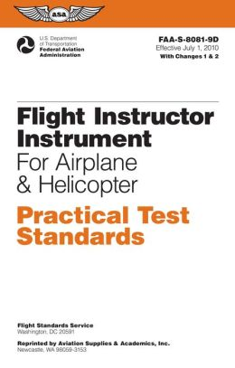 Flight Instrument Practical Test Standards for Airplane & Helicopter