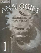 Analogies 1 Teacher's Notes + Answer Key