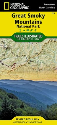 Great Smoky Mountains National Park, Tennessee/North Carolina Map