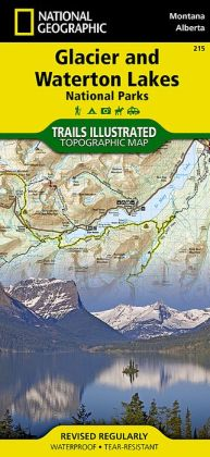 Glacier/Waterton Lakes National Parks, Montana/Alberta Map