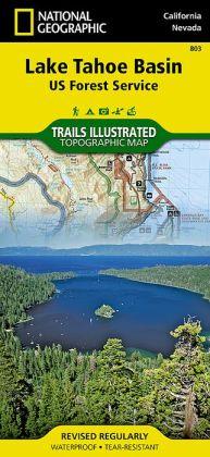Lake Tahoe Basin, California/Nevada Map