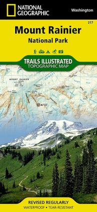 Mt. Rainier National Park, Washington Map