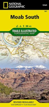 South Moab, Utah Outdoor Recreation Map