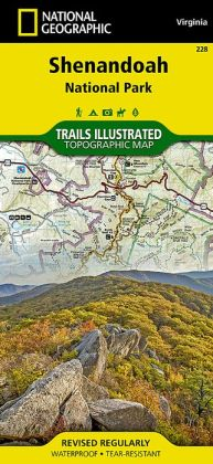 Shenandoah National Park, Virginia Map