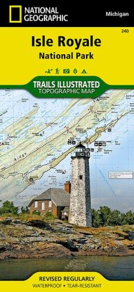Isle Royale National Park, Michigan Map