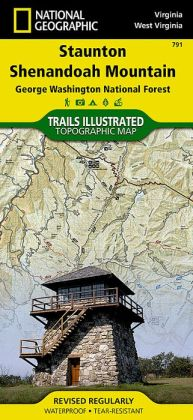 Staunton/Shenandoah Mountain, Virginia/West Virginia Map