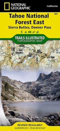 Tahoe National Forest, California (Sierra Buttes/Donner Pass) Map