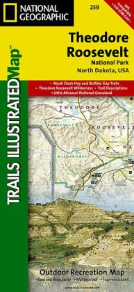 Theodore Roosevelt National Park: Trails Illustrated Map