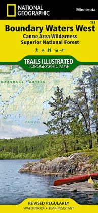 Boundary Waters Canoe Area West: Trails Illustrated Map: Outdoor Recreation Map
