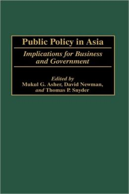 Public Policy In Asia