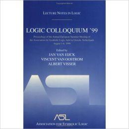 Logic Colloquium '99: Lecture Notes in Logic 17