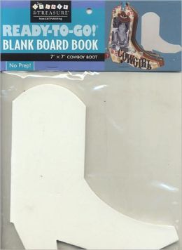 Ready-to-Go Blank Board Book Cowboy Boot
