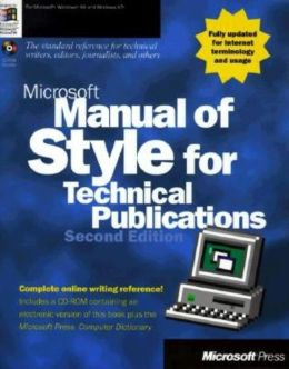 Microsoft Manual of Style for Technical Publications with CD-ROM, Second Edition