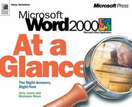Microsoft Word 2000 at a Glance