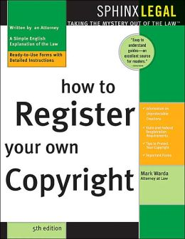 How to Register Your Own Copywright