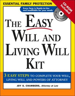 Easy Will and Living Will Kit with CD