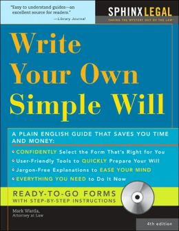 Make Your Own Simple Will with CD, 4E