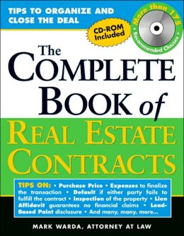 The Complete Book of Real Estate Contracts, with CD