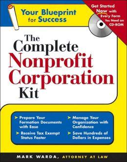 Complete Nonprofit Corporation Kit + CD