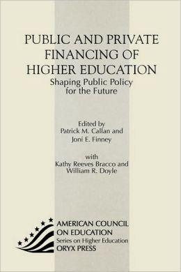 Public And Private Financing Of Higher Education