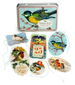 Holiday Birds Glittered Gift Tags 36 Assorted