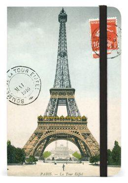Eiffel Tower Bound Pocket Lined Journal 4 X 6