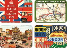 Vintage London Magnets Set of 24