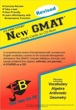 New GMAT: Exambusters CD-ROM Study Cards