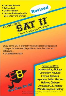 SAT II (Subject Tests): Exambusters CD-ROM Study Cards