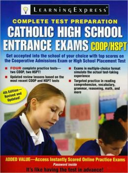 Catholic High School Entrance Exams, COOP/HSPT, 4th Edition