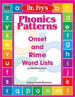 Dr Fry's Phonics Patterns - Onset and Rime Word Lists