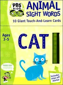 Animal Sight Words Flashcards