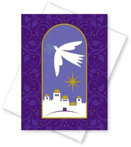 Dove With Olive Branch Christmas Boxed Card