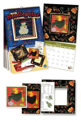2006 Needlepoint Wall Calendar Madeline Lake