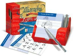 2007 Calligraphy & Letter Art Box Calendar